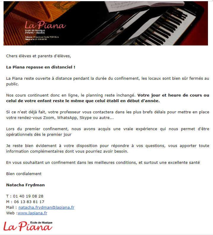 Mail de La Piana